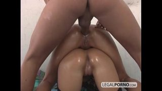 Threesome anal attack NL-7-04